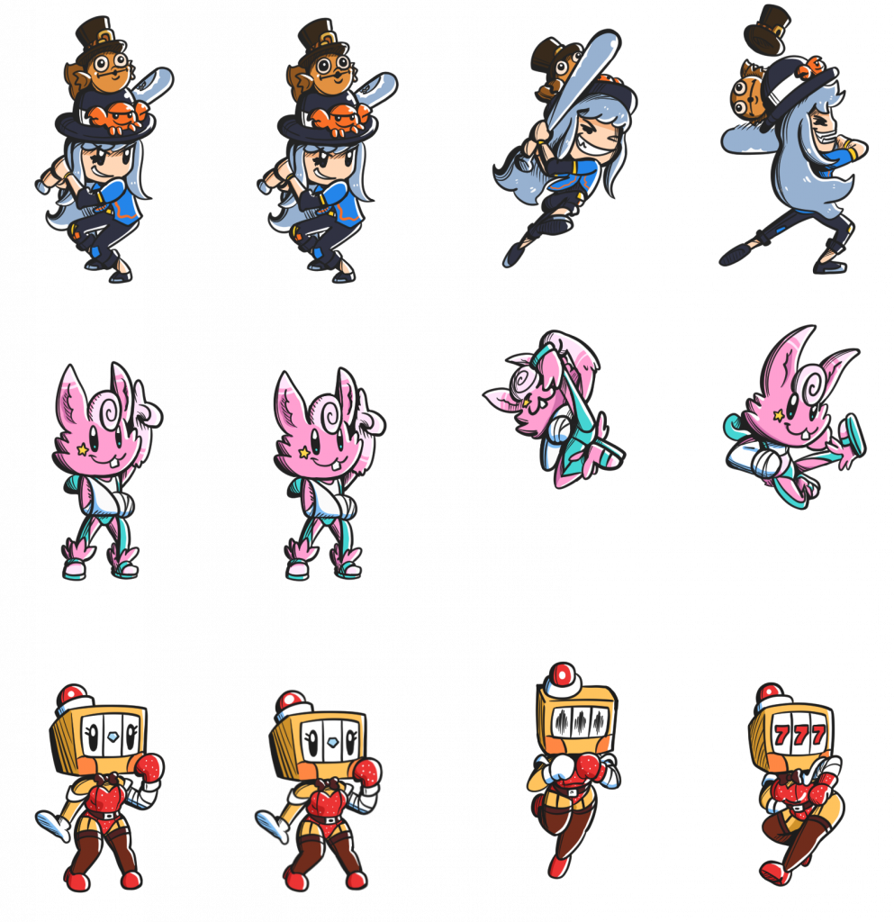 Showcase of Sprites for Art Fight Duel