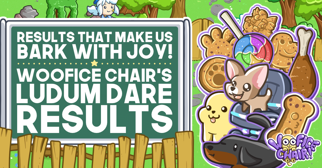Woofice Chair's Ludum Dare Results banner