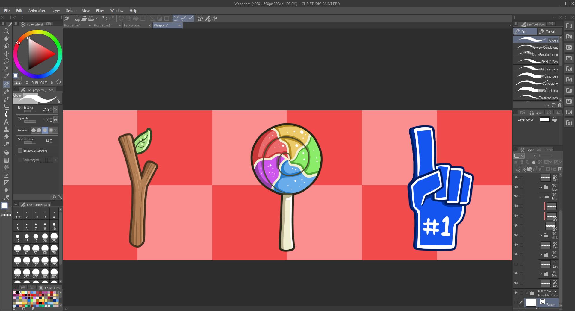 Fun Weapons in Clip Studio Paint