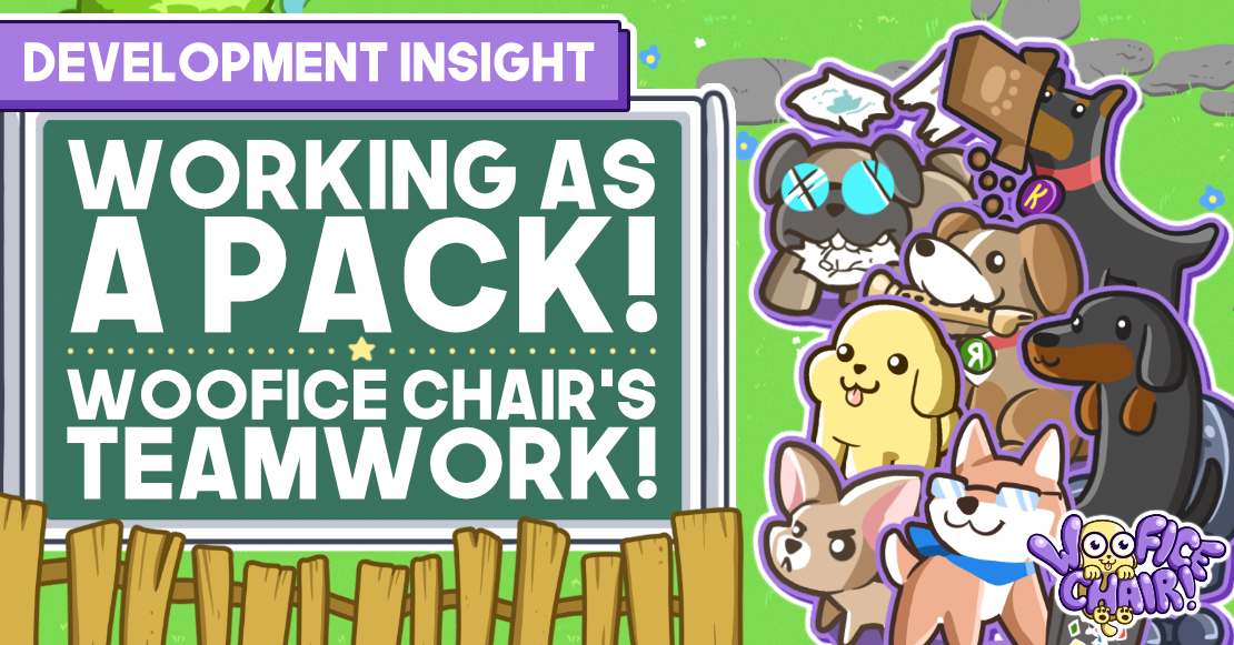 Working as a pack! Woofice Chair's teamwork!