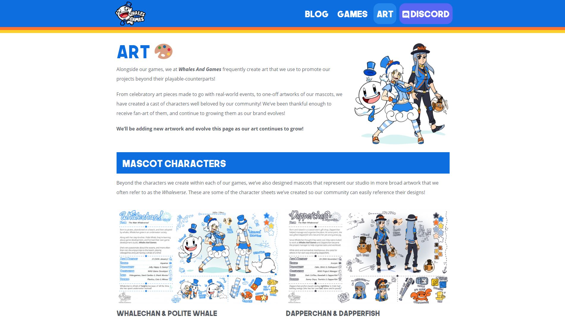 New Art Page on our Website!