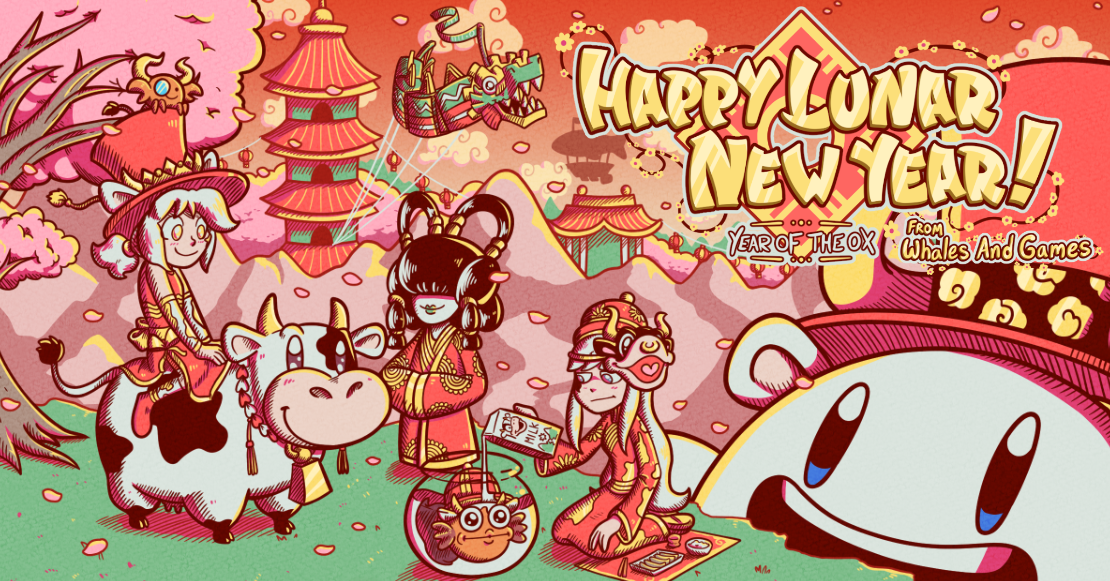 Happy Lunar New Year and Year of the Ox from Whales And Games!