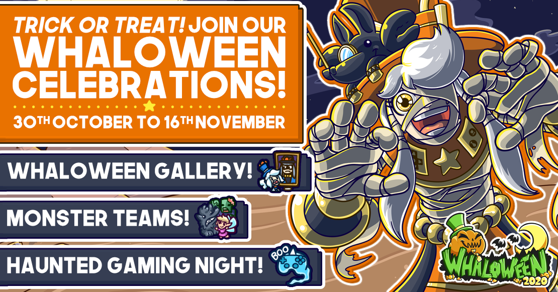 Trick or Treat! Join us our Whaloween celebrations!