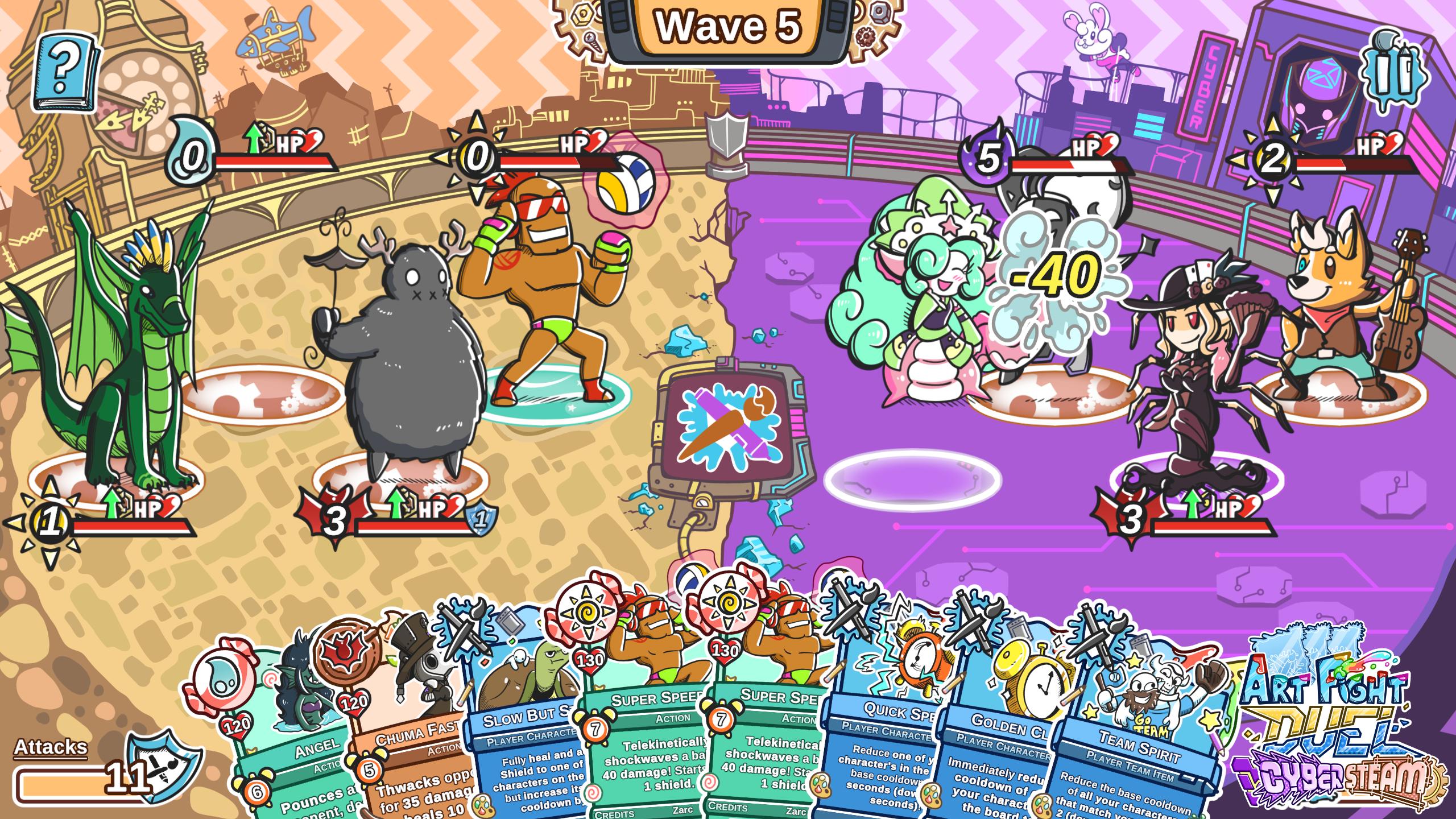 Art Fight Duel Cybersteam Screenshot