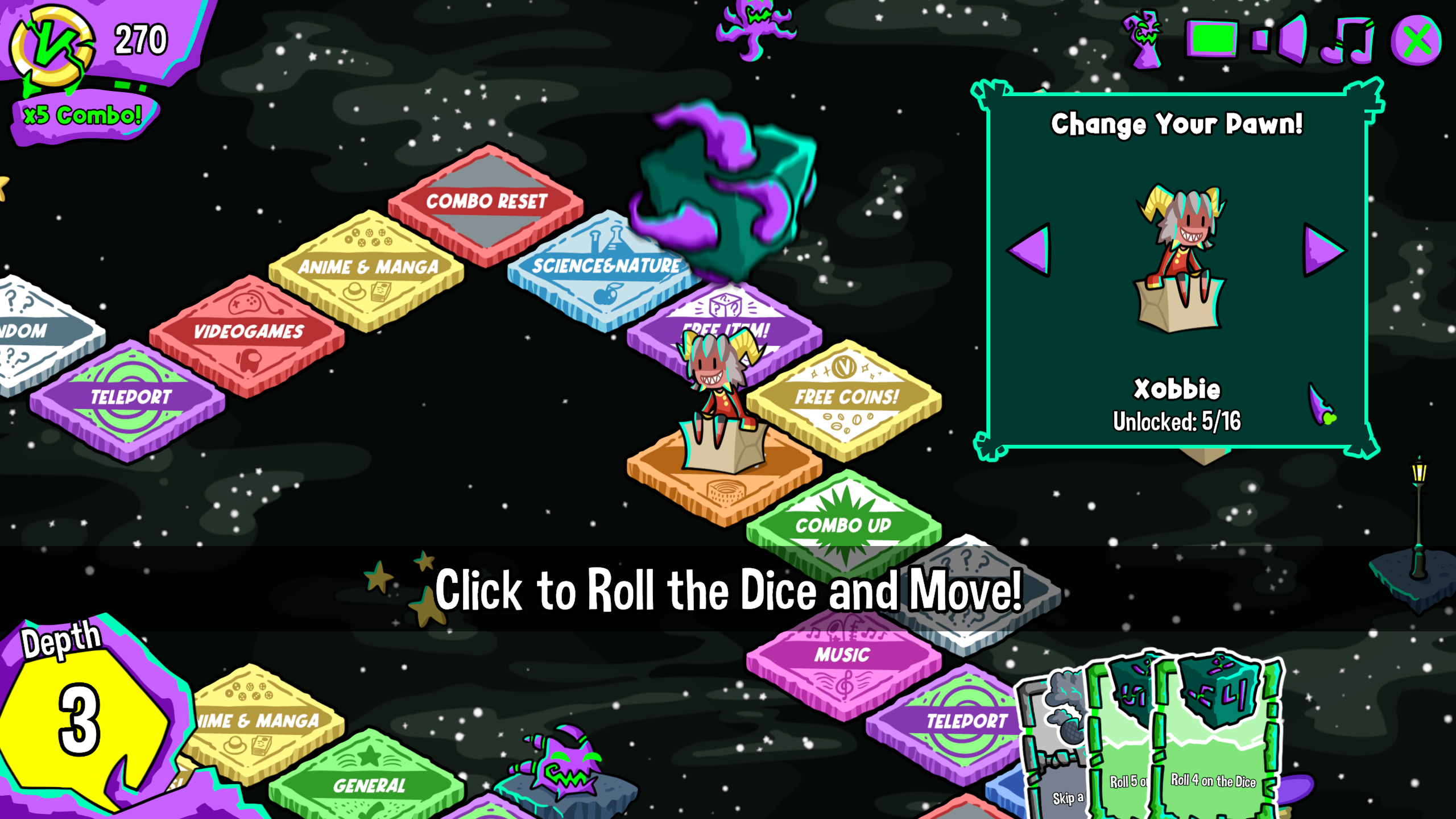 Vast Trivia of The Void Board Screenshot